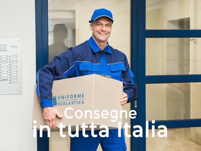 consegna dei prodotti in tutta italia tramite corriere