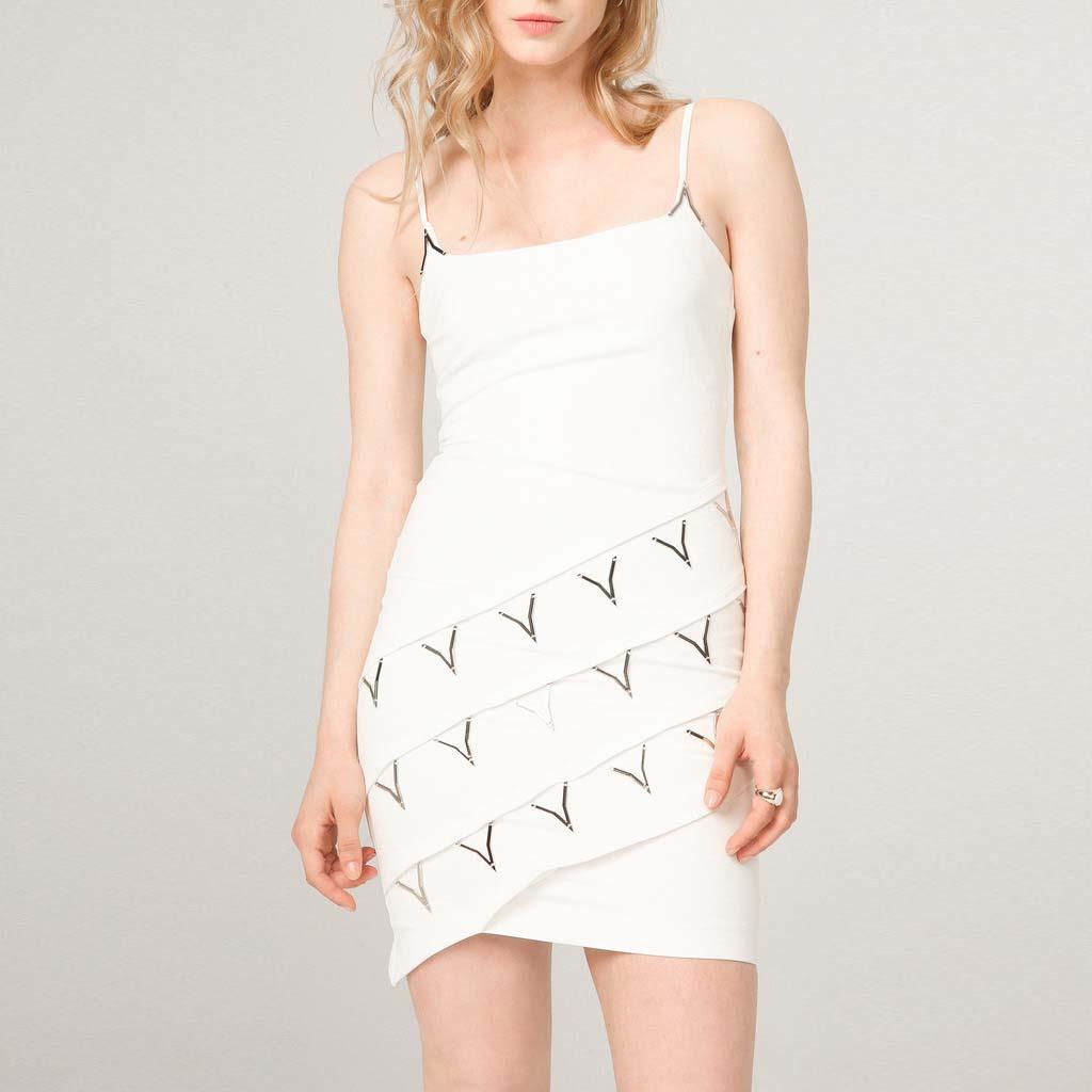 Abito femminile bianco - Abito femminile bianco, marca Fontana 2.0. Maison milanese Fontana Couture.
