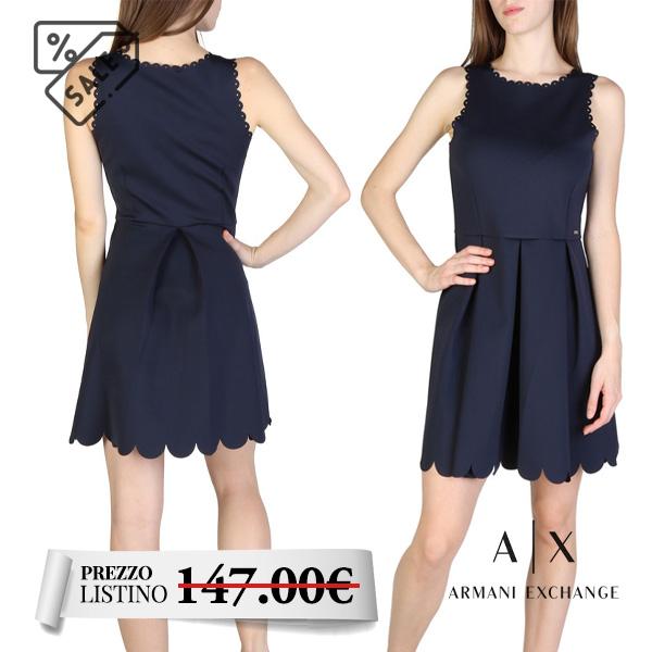 Abito donna smanicato Armani Exchange - Abito donna smanicato Armani Exchange, collezione primavera/estate. Scollo rotondo.