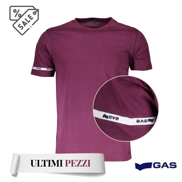 Gas t-shirt maniche corte viola